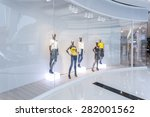 mannequins in fashion shopfront | Shutterstock . vector #282001562