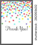vector illustration of thank...   Shutterstock .eps vector #282003632