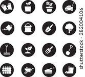 gardening icons | Shutterstock .eps vector #282004106