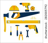 construction tools in the flat... | Shutterstock .eps vector #282005792