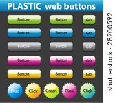 buttons for web design. vector. | Shutterstock .eps vector #28200592