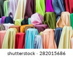Colorful Of Fabric Satin Rolls...