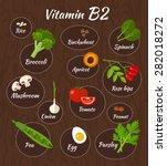infographic set of vitamin b2... | Shutterstock .eps vector #282018272