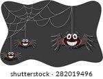 funny spider cartoon | Shutterstock .eps vector #282019496