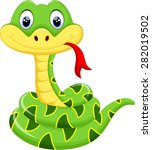 cute snake cartoon | Shutterstock .eps vector #282019502