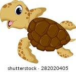Stock vector cute baby turtles 282020405