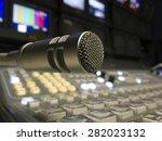 sound studio adjusting record... | Shutterstock . vector #282023132