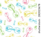 seamless colorful glasses on... | Shutterstock .eps vector #282023678