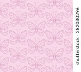 seamless pattern with simple... | Shutterstock .eps vector #282030296