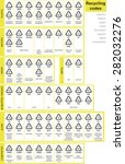 all recycling code can be found ... | Shutterstock .eps vector #282032276