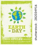 earth day eco poster vector... | Shutterstock .eps vector #282034916