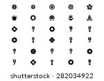 flowers or floral vector icons 2