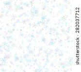 abstract blue snowflakes on... | Shutterstock . vector #282037712