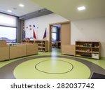 interior of day nursery  ... | Shutterstock . vector #282037742