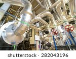 equipment  cables and piping as ... | Shutterstock . vector #282043196