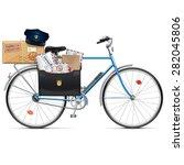 vector postal bicycle | Shutterstock .eps vector #282045806