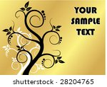 gold floral background | Shutterstock .eps vector #28204765