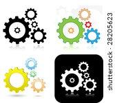 vector gears icons | Shutterstock .eps vector #28205623