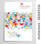 modern abstract brochure ... | Shutterstock .eps vector #282065126