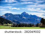 wendelstein mountain in bavaria ... | Shutterstock . vector #282069032