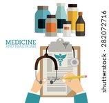 medicine design over white... | Shutterstock .eps vector #282072716