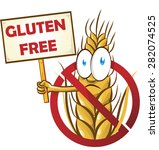 wheat cartoon with signboard... | Shutterstock .eps vector #282074525