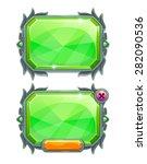 green crystal panels  vector...