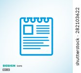 note on paper web icon. vector... | Shutterstock .eps vector #282103622