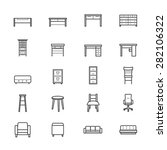 furniture office and home...   Shutterstock .eps vector #282106322