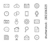 internet web and mobile icons... | Shutterstock .eps vector #282106325