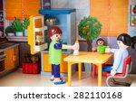 little plastic toys. family on... | Shutterstock . vector #282110168