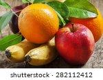 Colored Fruits  Apple  Banana ...