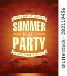 summer party vector | Shutterstock .eps vector #282119456