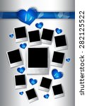 Vector Photo Frames With Blue...