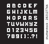 pixel letters of alphabet | Shutterstock .eps vector #282127766