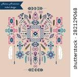 native american tribal design.... | Shutterstock .eps vector #282129068