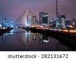 sao paulo night estaiada and... | Shutterstock . vector #282131672