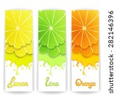 three bright banner with... | Shutterstock .eps vector #282146396