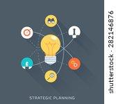 Strategic Planning  Flat Style...