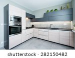 Stock photo elegant and comfortable kitchen interior 282150482