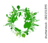 green earth with city energy... | Shutterstock .eps vector #282151595