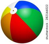 beach ball | Shutterstock .eps vector #282166022