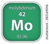 molybdenum material on the... | Shutterstock . vector #282169046