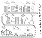 different elements for city...   Shutterstock .eps vector #282171248
