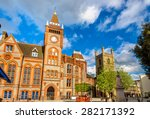 town hall of reading   england  ... | Shutterstock . vector #282171392