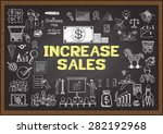 business doodles about increase ... | Shutterstock .eps vector #282192968