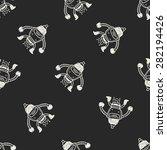 robot doodle seamless pattern... | Shutterstock .eps vector #282194426