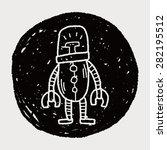 robot doodle   Shutterstock .eps vector #282195512
