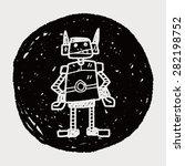 robot doodle | Shutterstock .eps vector #282198752