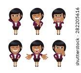 set of businesswoman characters ... | Shutterstock .eps vector #282205616
